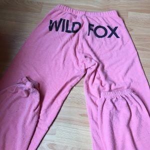 Wildfox Pink Sweatpants XS